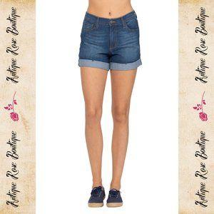 🌹 Judy Blue High Waist Cuffed Shorts